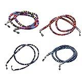 Sharplace Correa para Gafas Cuerda de Algodón Estilo Étnico - 4 Piezas - Multicolor, una talla