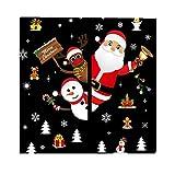 ODJOY-FAN Weihnachten Entfernbar Fenster Aufkleber Restaurant Einkaufszentrum Dekoration Schnee Glas Wandtattoos Festival Fenster Glas Dekor (60 x 90 cm)(D,1 PC)