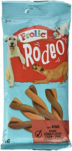frolic rodeo Frolic Rodeo Hundesnack Rind, 6 Stück, 105 g