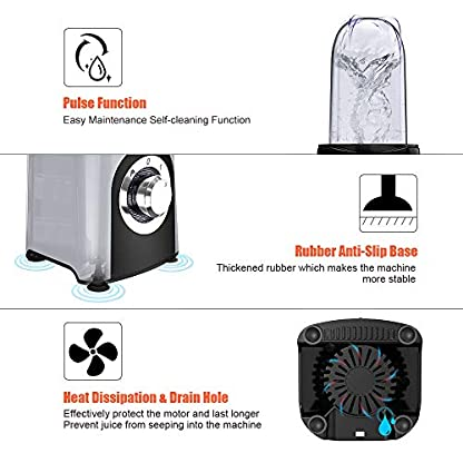 Homgeek-Mixer-Smoothie-Maker-Mini-Standmixer350-Watt-1x-500ml-2x-400ml-und-1x-200ml-Mix-Becher-1x-Kreuzklinge-und-1x-Flachklinge-2-Geschwindigkeitsstufen-Pulse-Taste