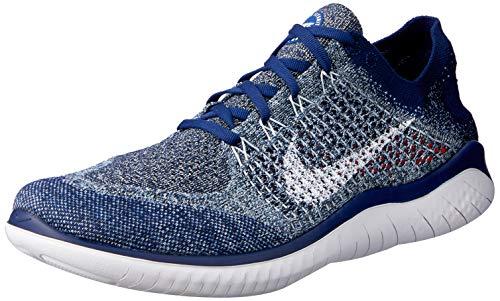 Nike Herren Free Rn Flyknit 2018 Leichtathletikschuhe, Mehrfarbig Void/White/Blue Tint/Red Orbit 402, 44 EU
