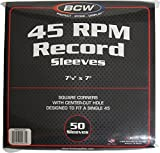 BCW 50 Brand Record White Paper Inner Sleeves