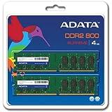 ADATA Supreme 4 GB (2 x 2 GB) DDR2-800 (PC-6400) CL5 DIMM Memory Kit SU2U800B2G62 (Black)