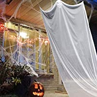 ‏‪ATROPOS Halloween Decoration Scary Hanging Ghost Props Halloween Hanging Skeleton Flying Ghost for Bars Supermarket Yard Outdoor Indoor (White)‬‏
