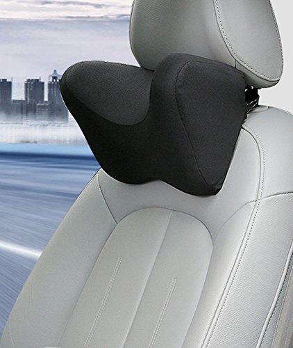 Preisvergleich Produktbild Premium Memory Foam Flugzeug Reisekissen Weichsten Auto Auto Hals Rest Kissen Zug Kissen Kit schwarz schwarz