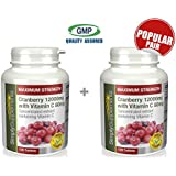 Simply Supplements Cranberry 12000mg with Vitamin C 80mg Bundle Deal 240 Tablets in total