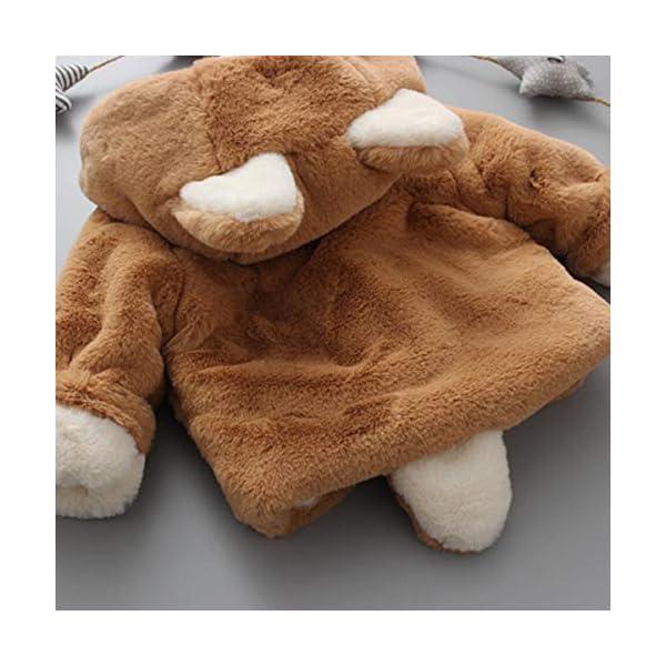 Borlai Chaqueta cálida para bebés de 0 a 5 años con capucha para invierno 5