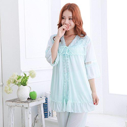 Yms-ai sexy home servizio nuovi emulazione dei pigiami di seta sexy di seta, seta sexy sweet home-,2062-3- azzurro, tutto il codice