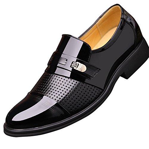 Poplover Hombre Zapatos De Vestir Planos Oxford Zapatos de Cuero Estil