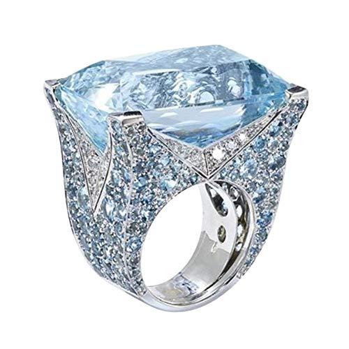 Loveso Damenring Kristall Strass Temperament Ring Modeschmuck Ring Geschenke Schmuck