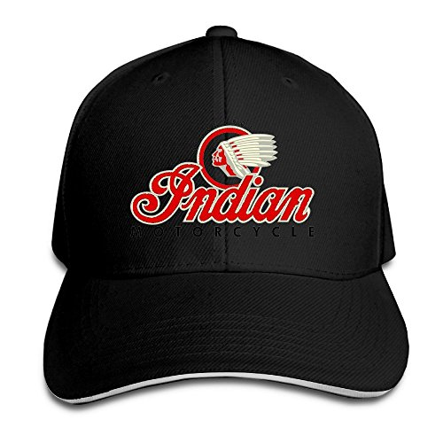 BestKK Indian Motorcycles Symbol Value Logo Sports Cap Sandwich Bill Hat