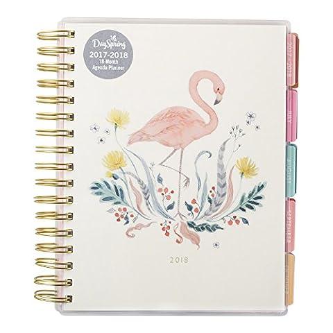 DaySpring Inspirational Calendar Flamingo 2018 Agenda Planner
