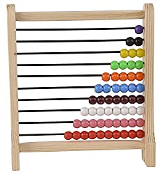 ABAJ Wooden Abacus Junior , Multi Color (1-10)