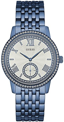 Guess Women's Watch Analogue Quartz Steel Blue W0573L4