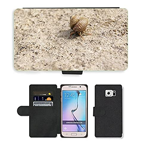 hello-mobile PU LEDER LEATHER FLIP CASE COVER HÜLLE ETUI TASCHE SCHALE // M00136633 Einsiedlerkrebs Shell Snail Meer Natur // Samsung Galaxy S6 (Not Fits S6 EDGE)