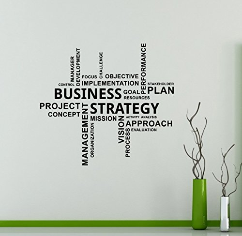 Business Wand Aufkleber Finanzen Wachstum Vinyl Aufkleber Home Interior Büro Wanddekoration Wandbild Housewares Design 6(DLM)