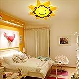LED Cartoons Brille Lampe Licht Kinderzimmer Sonne smile Lampe Lighting 59 cm Durchmesser