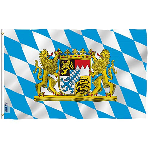 Bavaria National Country Flag - 3 foot by 5 foot Polyester (New) -