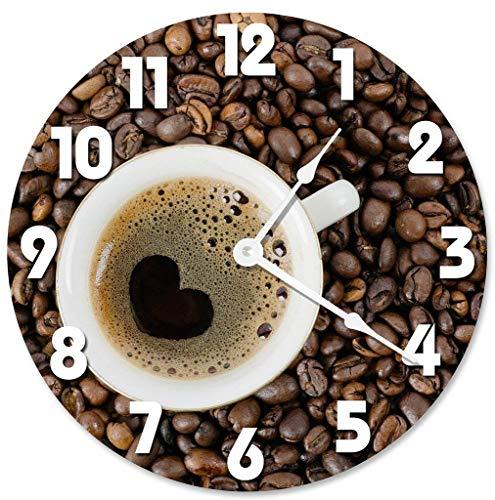 Wanduhr Coffee Heart