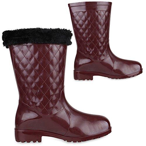 Japado - Stivali di gomma Donna Rosso scuro