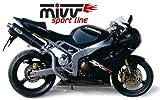 MIVV Sport OVAL SLIP-ON ESD: Edelstahl - Kawasaki ZX-6R 636 Bj. 2003-2004