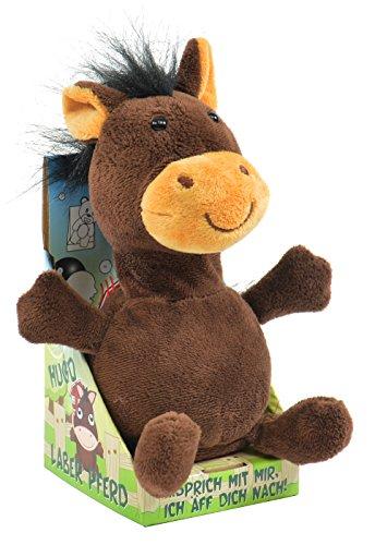 """Kögler 75573 - Laber Pferd \""""Hugo\"""", Labertier mit Aufnahme- und Wiedergabefunktion, plappert alles witzig nach und bewegt sich, ca. 18 cm groß, ideal als Geschenk für Jungen und Mädchen"""