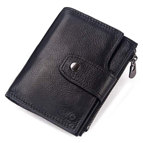 Po Smart Wallet - Ultra-schmales Portmonee für Herren Mini GPS Tracker - 15 Kartenfächer, 3 Fotofenster, 2 Fach, 1 Wechseltasche,Black Gps-chip-set