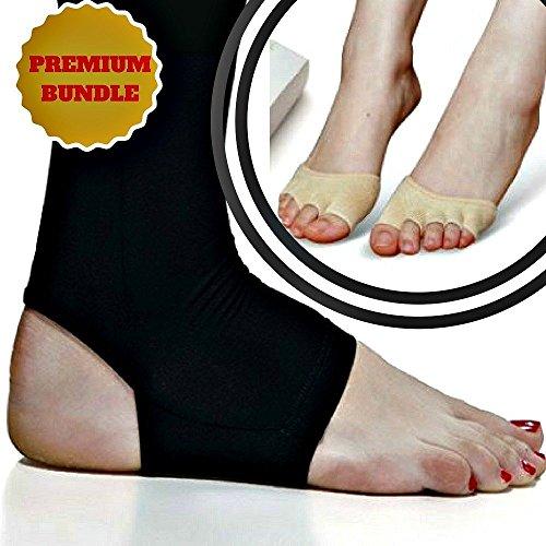 Damen Elite Kompression Socken (Kompressions-Kupfer-, und halbe Zehen-Socken für Herren und Damen, zur Linderung von Plantarfasziitis, Fersensporn, Knöchel-Zerrungen, Tendinitis, steife, schmerzende Muskeln und Gelenke, Größe XL))