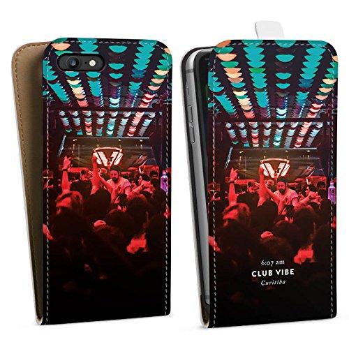 Apple iPhone X Silikon Hülle Case Schutzhülle Party House Techno Downflip Tasche weiß