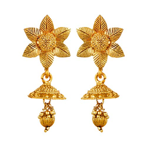 YouBella Jewellery Sets for Women Gold Plated Wedding Bridal Necklace Jewellery Set with Earrings for Girls/Women