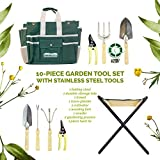 GardeHome Folding Stool with FREE Bag & 5 PC Tools ALL-IN-ONE
