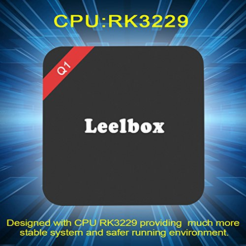 2016 Leelbox Android TV Box Neueste Modell Q1 Android TV BOX Kodi 16,1 Android 5.1 Vorinstallierte RK3229 Quad Core Miracast unterstuetzt 4K * 2K H.265 ,3D, 2.4G Wi-Fi LAN Media Player - 2
