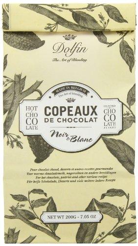 Dolfin Copeaux de Chocolat Noir e Blanc, Trinkschokolade-Flocken schwarz & weiß