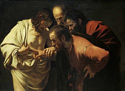 Impresin-artstica-Pster-Michelangelo-Merisi-Caravaggio-Doubting-Thomas-Impresin-de-alta-calidad-foto-pster-artstico-55×40-cm