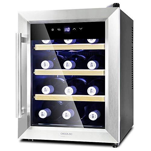 Grand Sommelier 1200 CoolWoodCecotec vinoteca Grand Sommelier 1200 CoolWood con capacidad para 12 botellas. Baldas de madera y tecnología Motionless.Vinoteca de 12 botellas con 33 l de capacidad.Eficiencia energética de Clase de A que reduce el consu...
