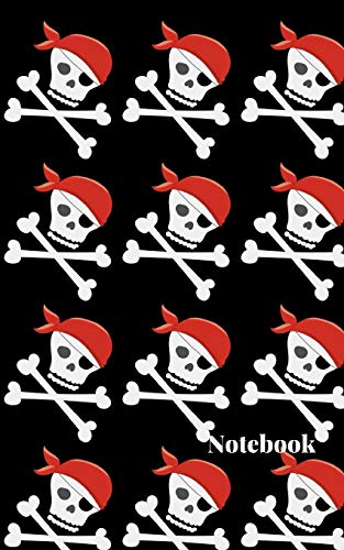 rate Red Cap Skulls Cute Small College Ruled Composition Journal Planner Diary Organizer|