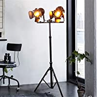 LED Stand Lampe schwarz gold Schlaf Zimmer Schein Werfer Steh Leuchte beweglich