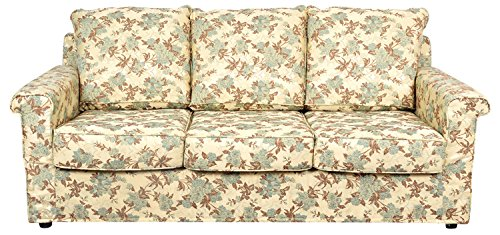 Kurl-on Eterno Three Seater Sofa (Light Green Floral)
