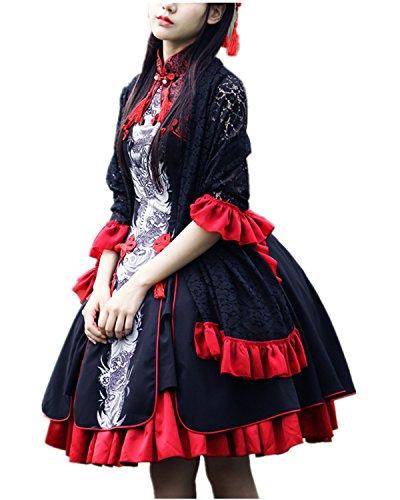 Beunique Lolita Chinesischer Stil Kleid Klassische und süße Kleider Cosplay Kostüm Größe (Plus Frauen Vampir Größe Kostüme)
