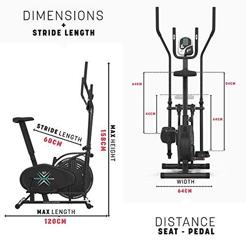 Deluxe 2-in-1 Crosstrainer, Hometrainer für Fitness, Cardio, Workout, mit Sattel - 2