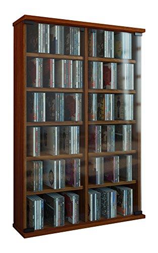 vcm-50432-roma-tour-pour-300-cd-dvd-imitation-structure-bois-noyer-fonce
