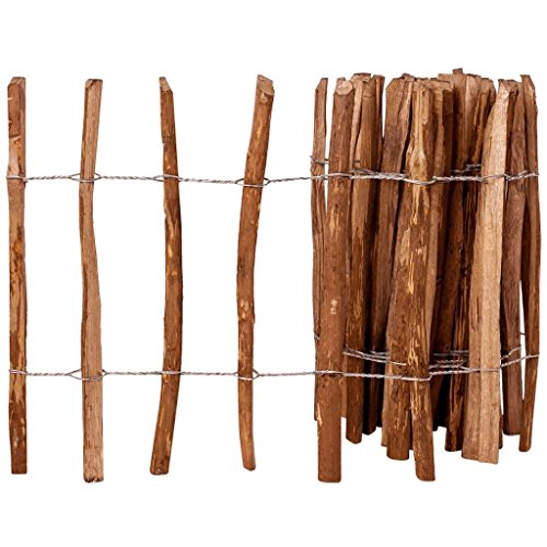 Zora Walter clôture en bois de noisetier imprégné 60 x 500 cm clôture jardin barrières extérieures clôture bois Accessoires clôture Kit Clôture extérieur