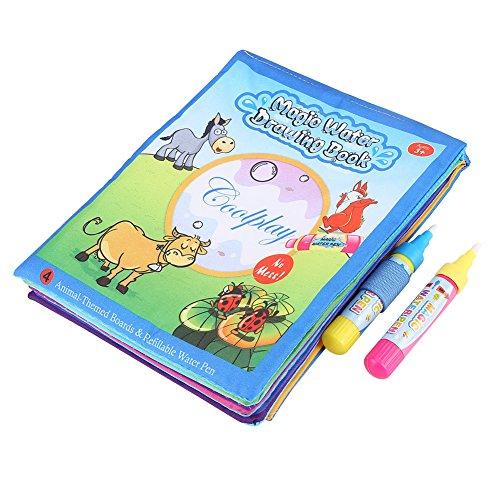 Hztyyier Magic Water Drawing Book, Bambini Magic Coloring Painting Libro di Stoffa con Pennarello per Acqua Kids Early Learn Toy