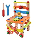 #3: Sri Baba International Variety Tool Chair Set For Kids - Changed Nut Dissembling Chair --- Wooden Toy Paint By Number Kits