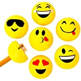 INFInxt Yellow Smiley Faced Sharpner for Kids Birthday Return Gift 60 Pcs.(Pack of 1 Jar)