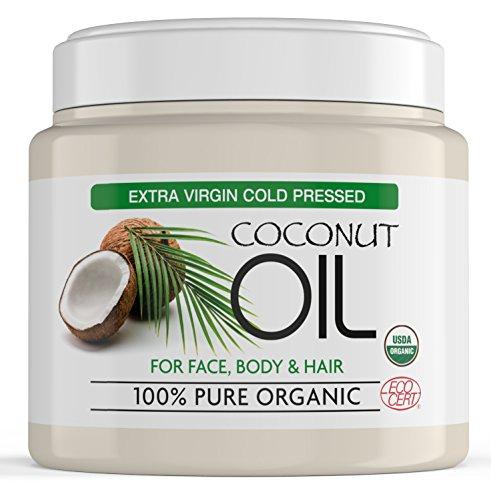 Natives Kokosöl für das Haar aus 100% reinen, nicht raffinierten Kokosnüssen, Extra Natives Kokosöl für Haut, Haar und Gesicht - Nicht...