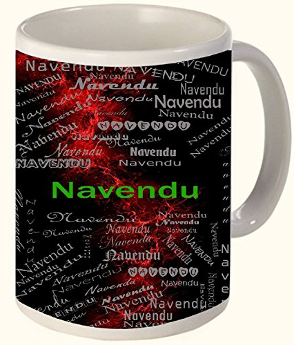 Navendu (New Moon ( The Moon A Night After Amavasya )) Printed All over Personalized!! Fun Coffee 12 OZ Ceramic Mug Microwave and Dishwasher Safe.