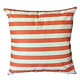 Dtuta Zierkissen hüllen, Striped Multicolor einfache und einfarbig Bedruckte Schlafcouch Home Dekoration Abschnitt Kissenbezug