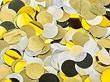 Papier Konfetti für Hochzeiten oder Konfetti-Luftballons | Tisch-Konfetti aus Seidenpapier in 3 Farbengold, weiß, schwarz