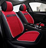 Universal Leder Leinen Autositzbezug, Autositz Schutz Pad 5 Sitze Mode Auto Sitzkissen Vier Jahreszeiten Universal 5D Kissen